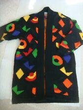 Vintage 1980's EXCEL London Paris New York Wool Blend Cardigan/Coat Size M/L