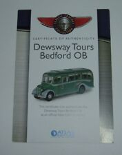 Atlas / Editions, Dewsway Tours Bedford OB, - Certificate of Authenticity, Mint