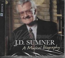 """J.D. SUMNER ..""""A MUSICIAL BIOGRAPHY""""..""""2 DISC SET""""..BRAND NEW SEALED GOSPEL CD'S"""
