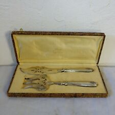 SERVICE A POISSON A DÉCOR AJOURE ARGENT FOURRE ART DECO 1920 1930 SILVER PLATA