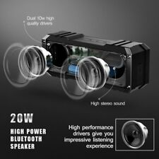VTIN 20W Bluetooth Speaker Stereo DEEP BASS Wireless Portable Waterproof BLACK
