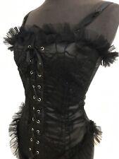Halloween Special Gothique Raven Noir Toile d'araignée corset femme taille S