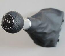 Audi a3 8l original s-line cuero palanca de cambio del circuito pinzamiento circuito perforada botón 5-g