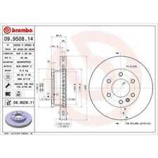 BREMBO 2x Bremsscheiben Innenbelüftet beschichtet 09.9508.11