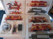 Bachmann Hawthorn Village McDonald's HO Train Set w/ Certificates 6pc, Track ++