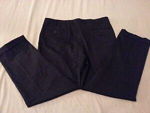 Mens Michael Kors Wool Dress Pants 38x30 Black Slack Trouser Khaki