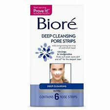 Biore Ultra Deep Cleansing Pore Strips, 6 Ct (Pack of 6)