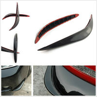 2 Pcs Black Streamlined Car Exterior Bumper Anti-Rub Protection Strips For Honda
