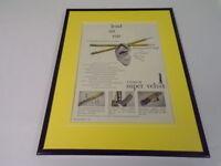 1951 Venus Super Velvet Pencils Framed 11x14 ORIGINAL Advertisement