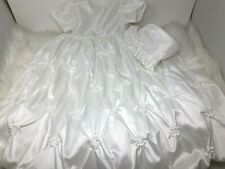 Lauren Madison Christening Gown (sz 9- 12 MONTHS) NWTs Gathered White Long w/Hat