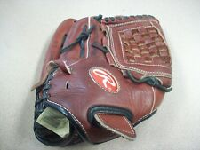 Rawlings Red and Black Baseball Glove Rtd125P 12 1/2 Inch Pre-owned. Rh.