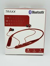 Interval wireless Bluetooth® headset with mic-RED By TRAXX NEW