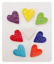 8 Multi Colored Handmade Mosaic Hearts