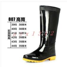Mens Waterproof Knee High Outdoor Tall Casual Rain Rubber Galoshes Wellies Boots