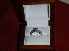 HAND MADE 18CT WHITE GOLD CEYLON SAPPHIRE-DIAMOND  RING  VALUE @ $8150 MUST SELL