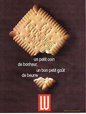 PUBLICITE ADVERTISING 014   1965   LU  petit beurre