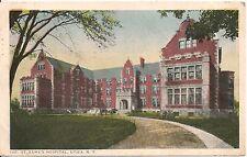 St. Lukes Hospital Utica NY Postcard 1918