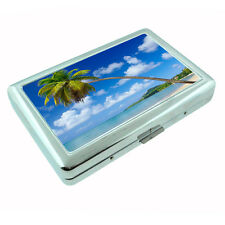 Metal Silver Cigarette Case Holder Box Ocean Views Design-005