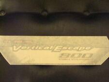 2003 Polaris Vertical Escape 800 Hood Decal Sticker 7170446 or 7171526