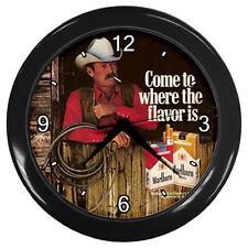 New Wall Clock Retro Ads 1979 Marlboro Country Cigarette Wall Clock  #Black
