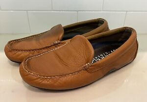 SPERRY Top-Sider Men's Dark Tan Driver Leather Loafers Size 9M