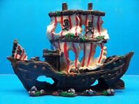 YM832S Sailing Pirate Ship Wreck Heavy Aquarium Decoration Hand Painted