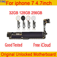 IPHONE 7 WORKING (UNLOCKED) 32/128/256 Mainboard Motherboard+Touch ID Genuine