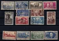 PP135344/ FRANCE STAMPS – YEARS 1938 - 1939 USED SEMI MODERN LOT – CV 180 $