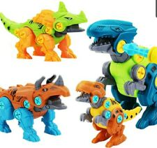 Take Apart Dinosaur Toys for Boys - Building Toy Set with Electric Drill Constru