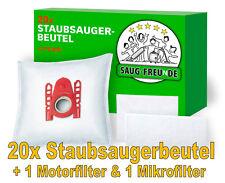 SAUG-FREUnDE 20 Staubsaugerbeutel + 2 Filter geeignet für SIEMENS VS06A110