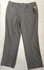 New With Tags LARRY LEVINE Stretch Pants sz 16, Gray, MSRP $60.00. Free Shipping