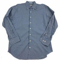 Peter Millar Men's Checkered Sz Large Button Down Shirt Multi Striped NWOT