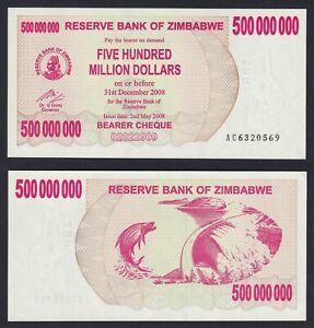 Zimbabwe 500000000 dollars 2008 FDS-/UNC-  C-09