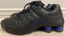 Nike Shox NZ  378341 026 Black/Blue Athletic Running Shoes Men's Size 9