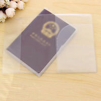 Transparente Funda pasaporte organizador Protector tarjeta identificación Vi*ws