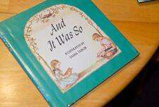 Tasha TUDOR/AND IT WAS SO/1958/Ex-Lib HCDJ/Christian/Used Acceptable