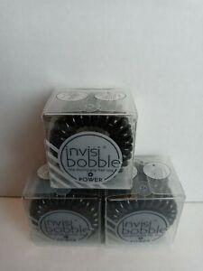 3X Invisibobble True Black Power 3 piece each pack