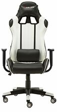 New High Back Racing Gaming Chair Bucket Seat Office Computer Desk Chair White