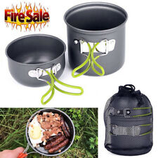2017 Outdoor Cookware Backpacking Cooking Kit Bowl Pot for Camping Hiking Travel