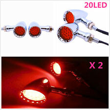 Red 20LED Rear Tail /Brake Light Turn Signal Indicator Lamp For Motorcycle DC12V