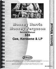 Massey Harris 555 Gas Kerosene Lp Tractor Service Manual Mh S 555 Gkl
