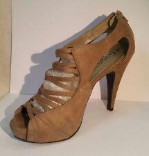 New Look Peep Toes Standard (D) Stiletto Heels for Women