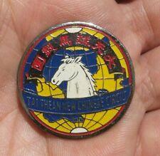 Rare 大天球馬戲圑 工作章 vintage Singapore Tai Thean Kew Chinese Circus metal Pin Badge