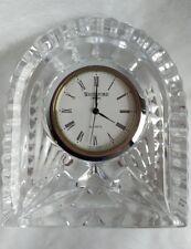 "VINTAGE WATERFORD Crystal Lismore Dome Mantel Shelf Desk Clock 3"" Free Shipping"