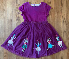 Mini Boden Girls Velvet Tulle Nutcracker Appliqué Holiday Dress 9 10 11 12 Party