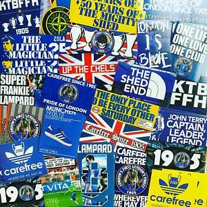 100 x Chelsea Ultra Style Stickers inspired by Poster Programme Munich Shirt Cap