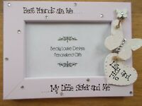 Me and My Little Sister  Personalised Photo Frame Keepsake Birthday Gift 6x4