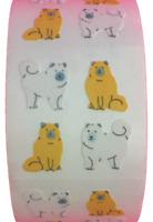 "400 Cat Stickers in roll of 100 modules 2 /""x 2/"" each sticker 1.00/"" RP0203"