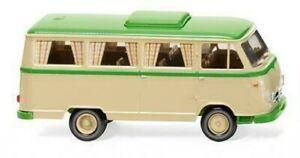Wiking 027044 - 1/87 Borgward Camping-Car B611 - Elfenbeinbeige / Jaune-Vert -