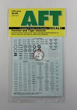 Archer 1/35 Assorted Interior Stencils for Tiger and Panther Tanks WWII AR77017